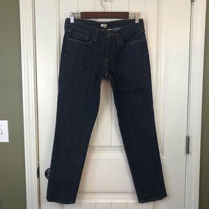 J Crew Factory skinny ankle Stretch Jeans dark